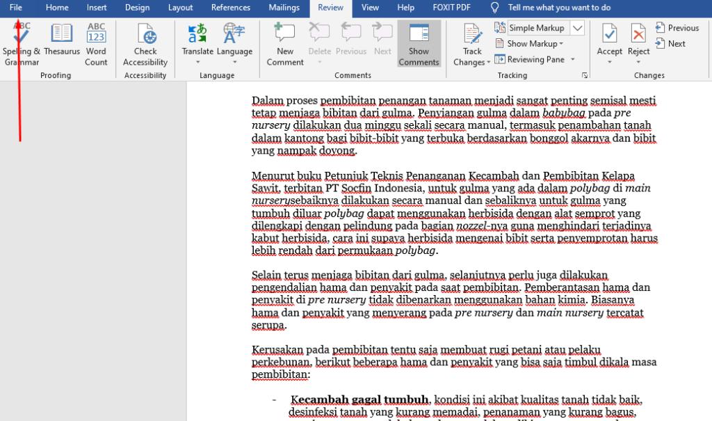 Cara Menghilangkan Garis Merah Di Microsoft Word Dengan Mudah