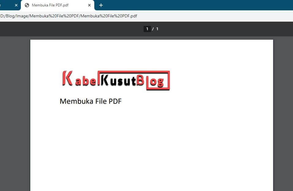 cara membuka file pdf