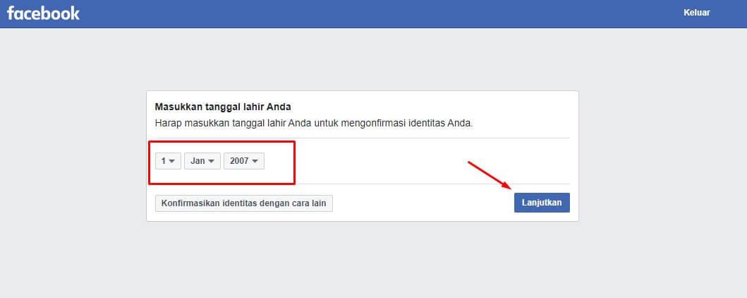 cara membuka akun facebook